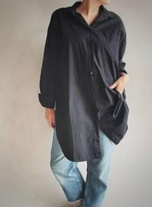 Bilde av Sort - Boyfriend Skjorte
