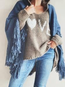 Bilde av Jeansblå - Daisy Sjal